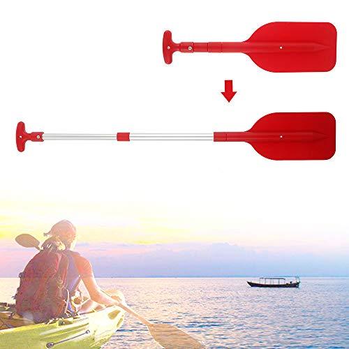 Maalr Remo doble para kayak, remo de Boat Oars – aleación de aluminio con palas ajustables para kayak, canoa, barco, remo, barco (rojo)