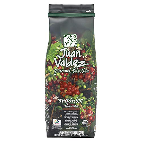 Juan Valdez Organico Balanceado Café en Grano, 500g