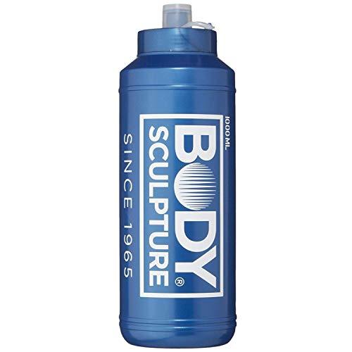 ボディスカルプチャー BODY SCULPTURE ウォーターボトル 1000ml ブルー 2WAYキャップ&ストロー付き TKS81HM041 スクイズボトル