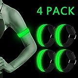 LED Armband, 4 Stück Reflective LED leucht Armbänder...