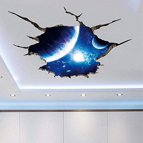 Outer Space Planets 3D Wall Stickers for Living Room Bedroom Floor Decoration Vinyl DIY Home Decor Wall Decals-A