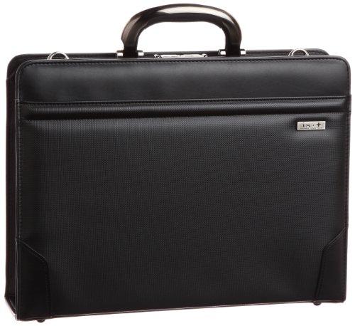 [アイエスプラス] アルミ手ハンドル撥水39cmダレスビジネスバッグ 日本製 口枠ダレス ブラック