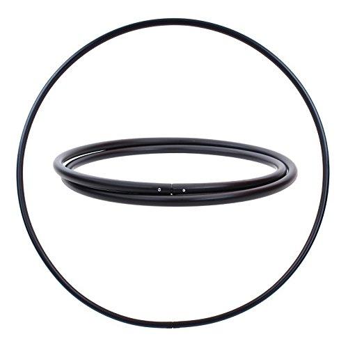 hoopomania Pieza Bruta para Hula Hoop, PE 25 mm, Negro, Ø 100 cm