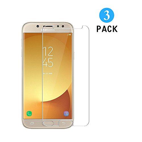 WEOFUN [3 Stück] Kompatibel mit Panzerglas Schutzfolie Samsung Galaxy J5 2017 [0.33mm, Anti-Kratzen, Anti Fingerprint, 9H Festigkeit]
