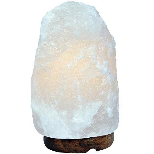 RXL Original Himalayan Crystal Rock Salt Lamp Hand Crafted Wooden Base Salt...