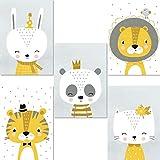 LALELU-Prints | A4 Bilder Kinderzimmer Deko Junge Mädchen