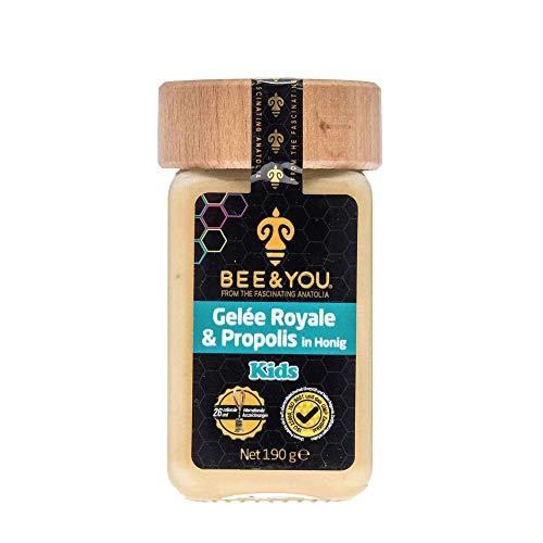 Bee&You Gelee Royal & Propolis in Honig für Kinder (Roher Honig, Fairer Handel, Natürliche & kontrollierte Zutaten)