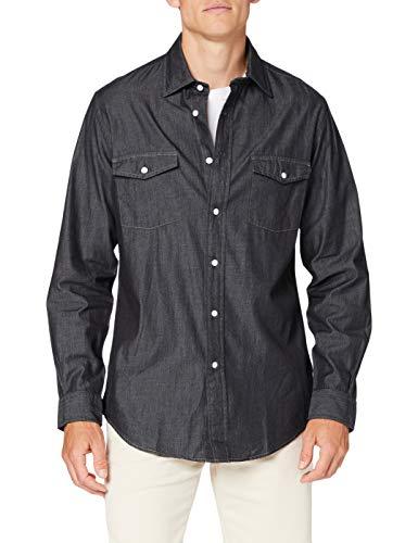 Brooks Brothers Herren Camicia Sportiva Hemd, dunkelblau, Medium