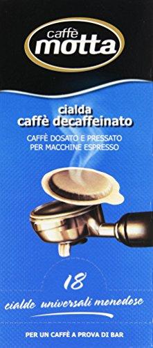 Motta - Cialda Caffe' Decaffeinato, Caffe' Dosato E Pressato Per Macchine Espresso - 18 Cialde
