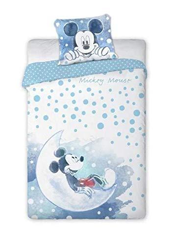 Mickey Mouse 067 Bettwäsche Babybettwäsche 100 x 135 cm 100% Baumwolle