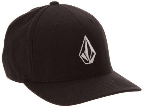 Volcom Herren Baseballmütze Full Stone Xfit, Black, S/M, D5511105BLK