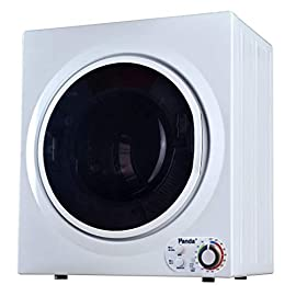 Panda Portable Compact Laundry Dryer, 3.5 cu.ft, 13lbs Capacity, Black and White, PAN760SF 2 The perfect dryer for an apartment, condominium, or other small living space. Capacity 13lbs/3.5 cu. ft. Stainless Steel Drum. Regular 3 prongs 120V outlet, plug anywhere you like Lightweight for easy portability to carry around