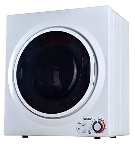 Panda 3.75 cu.ft Compact Laundry Dryer, 13.2lbs Capacity, Control Panel Downside, PAN760SF White and Black