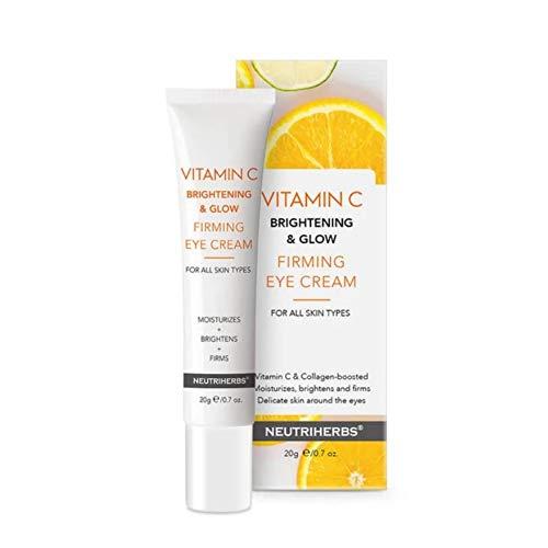 Neutriherbs Vitamin C Brightening and Glow Firming Eye Cream Serum Collagen Boost Delicate Skin