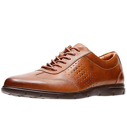 Clarks Herren Vennor Vibe Derbys, Braun (Tan Leather), 46 EU