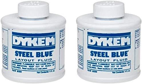 Dykem 80300 Steel Blue Layout Fluid, Brush-in-Cap 4oz (2 Pack)