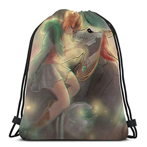 Jupsero The Ancient Magus Bride Sport Bag Gym Sack Mochila con cordón