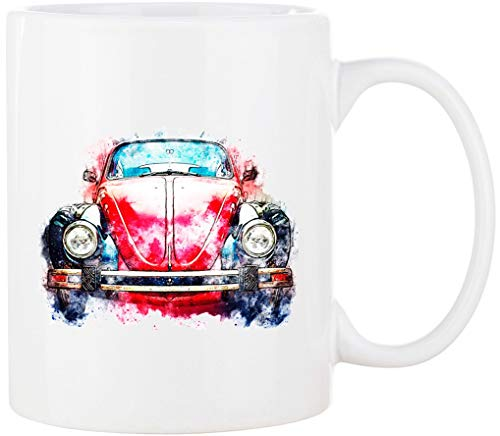 Cadouri - CAMPING-Tasse mit Spruch ROTES AUTO Kaffeetasse Kaffeebecher Trinkbecher Campingbecher - 300 ml