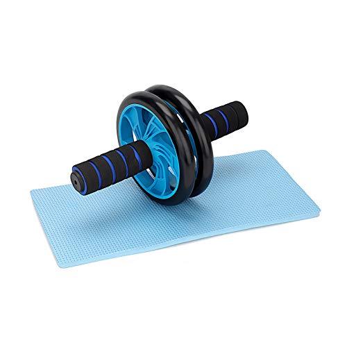 MorNon Rodillo de Fitness Rueda de Abdominales AB Roller Doble Rueda Abdominal con Arrodillamiento y Manijas de Cintura para Adelgazar Fuerza Central para Gimnasio en casa