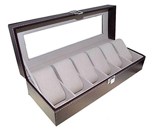 Meyer & Söhne Meyer & Söhne Orig Uhrenbox Leder für 6 Uhren Sammelbox Reisebox braun