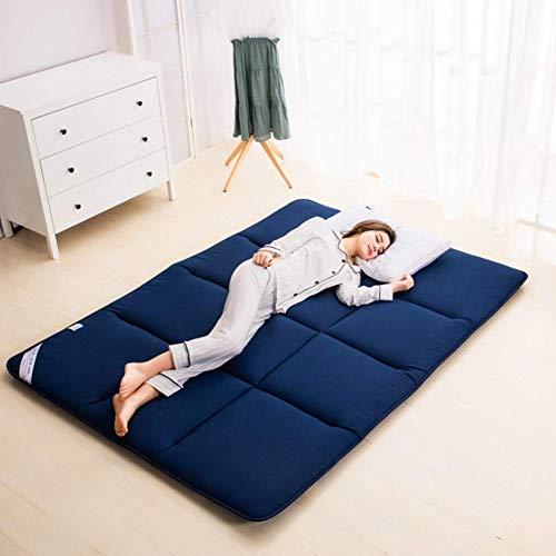 CYQ Single double thickening mattress Tatami Non-slip portable Nap Tatami mat Thickening Skin-friendly Mat-180x200 cm Gray
