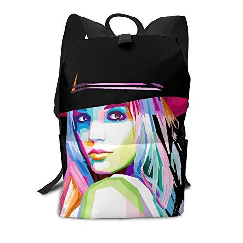 Homebe Britney Spears Full Format Print Unisex Rucksack, Kordelzug Schultertasche, Rucksack, Tasche, Canvas, Tasche, Reisetasche