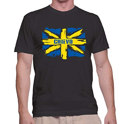 Tipolitografia Ghisleri Maglietta con Bandiera Chievo quartiere di Verona (Taglia M: per Altre Taglie dalla S alla XXL Inviare Messaggio con Il Numero d'ordine) Replica -