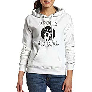 Shanzhi Proud Pitbull Dad Fashion Hoodie for Womans Jumper Hooded Pullover:Elektrikmalzemeleri