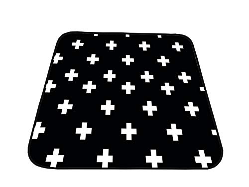 "Splat Mat - for Under Highchair, Waterproof, Washable Spill Mat for Floor or Table, Art, Crafts, Playtime, Water-Resistant Anti-Slip Silicone dots on The Back. 51""x51"" - Modern"