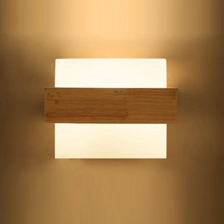Warme Schlafzimmer Nachttischlampe Japanische Massivholz Wandleuchte (gre   5W)