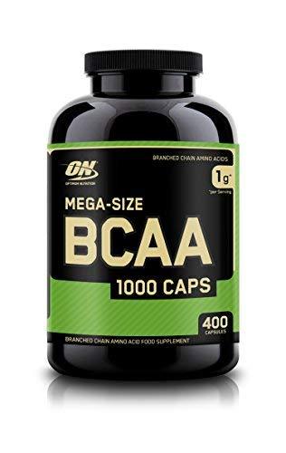 Optimum Nutrition ON BCAA 1000, Cápsulas BCAA, Suplementos Deportivos, Rico en Aminoacidos Ramificados y Esenciales, para mejor recuperación, sin sabor, 200 porciones, 400 Cápsulas