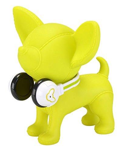 Amour Passion Tirelire Chien Chihuahua Verte avec Casque HiFi