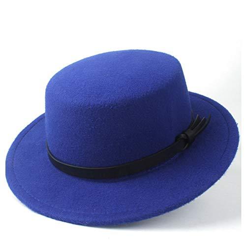 XYAL-Hats Xingyue Aile Top hoeden & cowboy-mutsen, nieuwe mannen vrouwen werken winterplat top Hat, Wide Brim Panamahut, wol Cap Fedora-hoed, maat 56-58 cm