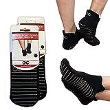 Non Slip Skid Socks with Grips, For Hospital Rehab, Yoga, Pilates, Barre, Traveling, Home Use, Black...