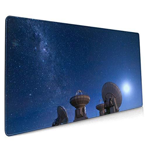 Radio Antenne Astronomie Satellieten Frequentie Parabolische Muis Pad Niet Slip Rubber Grote Gaming Keyboard Mat 15.8x35.5 In