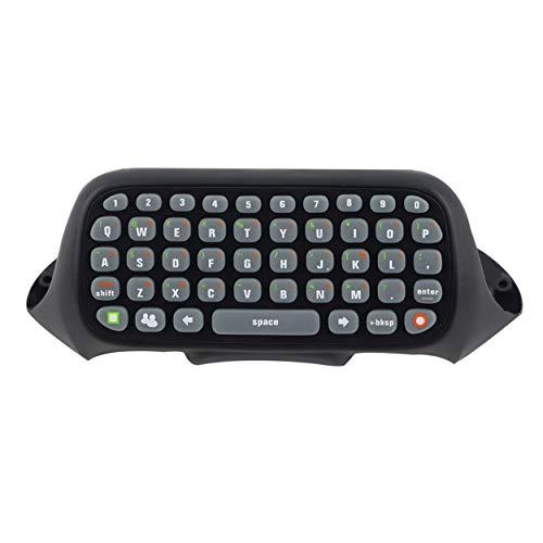 Caroline Philipson Mini-Tastatur Wireless Controller Text Messenger-Tastatur 47 Tasten Chatpad-Tastatur für Xbox 360 Game Controller Schwarz