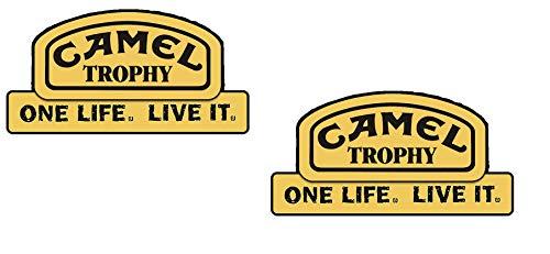 24/7stickers #434 / 2X Camel Trophy Aufkleber XXL je ca. 18x9cm Offroad SUV Geländewagen Land Rover etc Jeep Lada