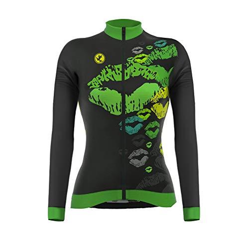 Uglyfrog Nouveaux Modèles Femme Maillots de Cyclisme Vélo VTT Vêtements Veste Manches Longues Séchage Respirant L'automne Style