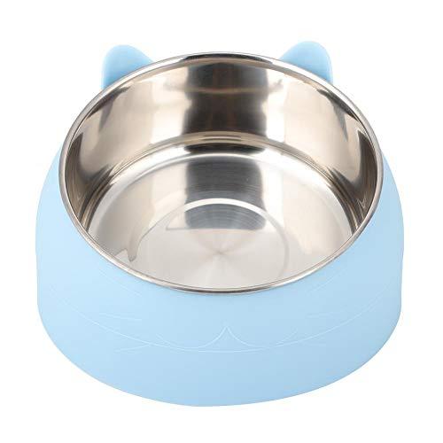 HEEPDD Cuencos de Comida para Perros y Gatos, alimentador de Mascotas con protección para el Cuello, alimentador de Mascotas para Gatos pequeños y Perros, Cuenco Inclinado de 15 Grados(Azul)