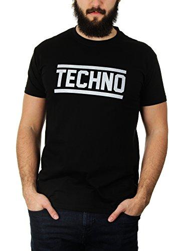 KaterLikoli Techno - Camiseta para hombre Profundo Negro XL