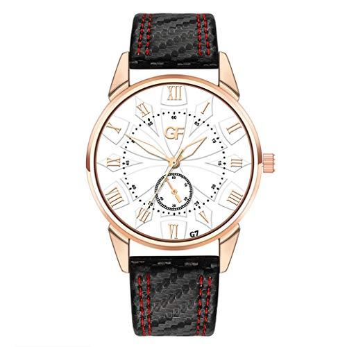 ROVNKDModischer Encanto Caliente Damen-Leder-Uhr lo tardío en Cada Caso Carta Relojes New Pointer Glow c Tallaúnica