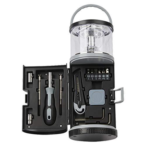 AUTUUCKEE 15 en 1 LED linterna de camping para campamento senderismo kit de emergencia, linternas con pilas LED linterna Kit de luz con asa superior portátil
