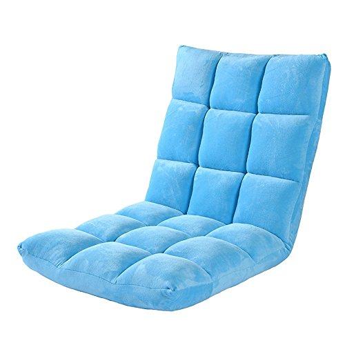 Fauteuils inclinables Feifei Canapé Paresseux Pliable Chaise Unique Ordinateur Dossier Chaise Lavable Tissu inclinable canapé Chaise Salon Chambre Balcon Chaise Longue Pliant (Couleur : Bleu)