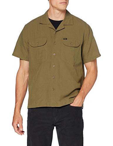 Lee Herren SS Worker Shirt Freizeithemd, Weiß (Cloud Dancer Ha), Large (Herstellergröße: L)