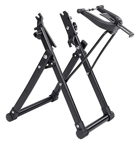 Rack de soporte de reparación de bicicletas, aleación de aluminio estable Bicicleta de montaña Rueda de raza Rack de truco, Universal 16-29 pulgadas Bicicleta plegable de la rueda de reparación de la