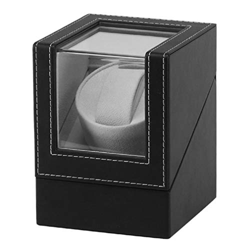 Jarhit Advanced Motor vibrador visualización Reloj Winder Stand visualización automática mecánico Reloj Winding Box Jewelry Watch Box (Enchufe británico)