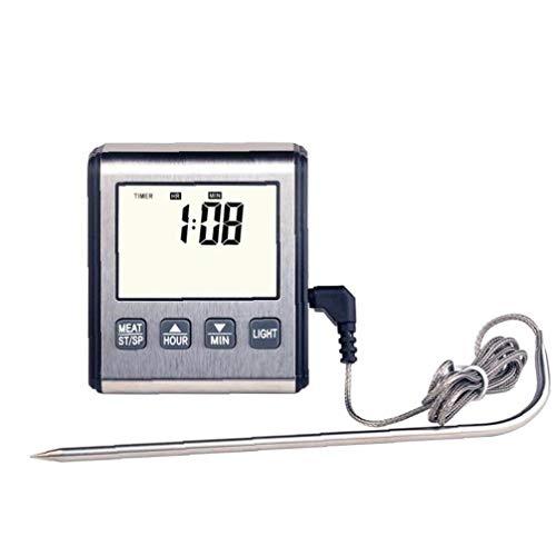 lulongyansf Digital-Fleisch-Thermometer-küche BBQ Kochen Thermometer Für Grillen Ofen Frittieren Mit Smart Kitchen Timer-Modus Und Beleuchtung Home Decoration