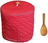 wooden appliance cover - Instant Pot Cover with Wooden Ladle Pocket Pressure Cooker Cover for 6 Quart Instant Pot Dust Proof Covers for Appliances Decorative Appliance Covers with Pocket - Red