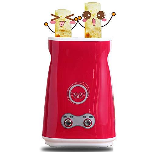 Machine Automatique Aux Oeufs, Saucisses Grillées Egg Roll Cooker Hot Dog Rouleau Maker Machine Pour Petit-Déjeuner Gratuit Brosse De Nettoyage, Rouge