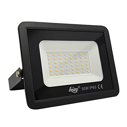 AOMEX Faretto LED da esterno 50W 5000 lumen Faro led Impermeabile IP65 per Giardino Cortile Illuminazione per Esterno/Interno alta luminosità(Bianco Caldo/3000K, 50W)